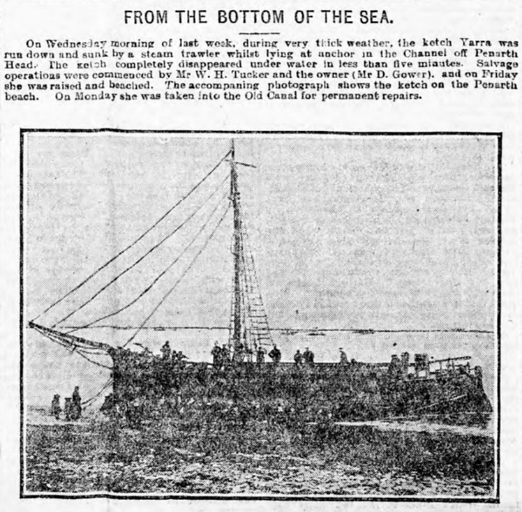 From the Bottom of the Sea - ketch 'Yarra' - 1906